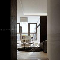 Minimalizm i nowoczesność to główne wytyczne aranżacji wnętrz apartamentu. Projekt i wizualizacje: ANIEA - Andrzej Niegrzybowski architekt