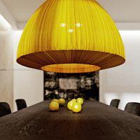 Dzięki takim akcentom, nowoczesne, minimalistyczne wnętrze nabrało przytulności i domowego ciepła. Projekt i wizualizacje: ANIEA - Andrzej Niegrzybowski architekt