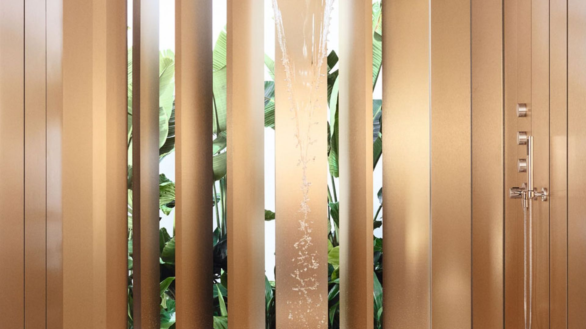 Deszczownica Aquamoon z kolekcji LifeSpa. Fot. Dornbracht
