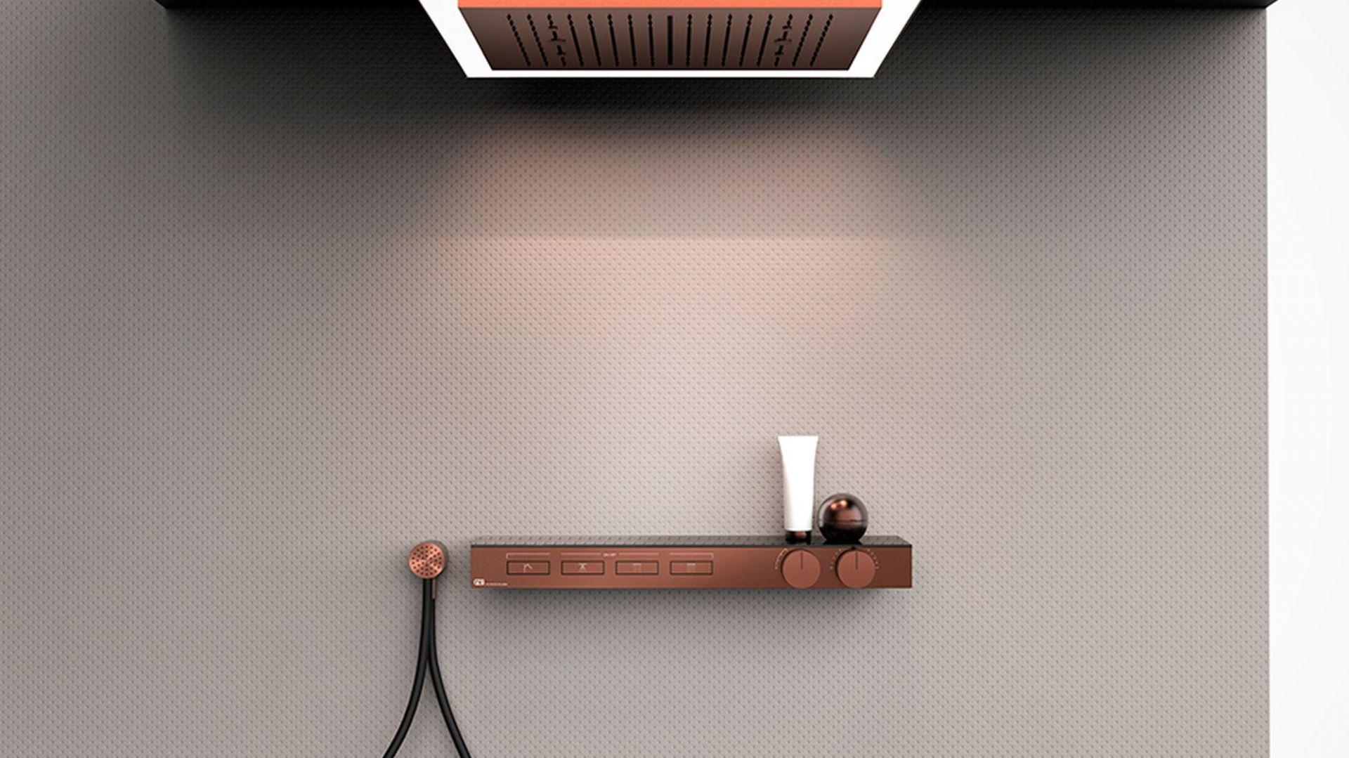 Seria HI-FI, inspirowana wzornictwem i sposobem obsługi systemów stereo, to prawdziwa gratka dla wielbiciel niebanalnego designu i… miłośników muzyki. Fot. Gessi