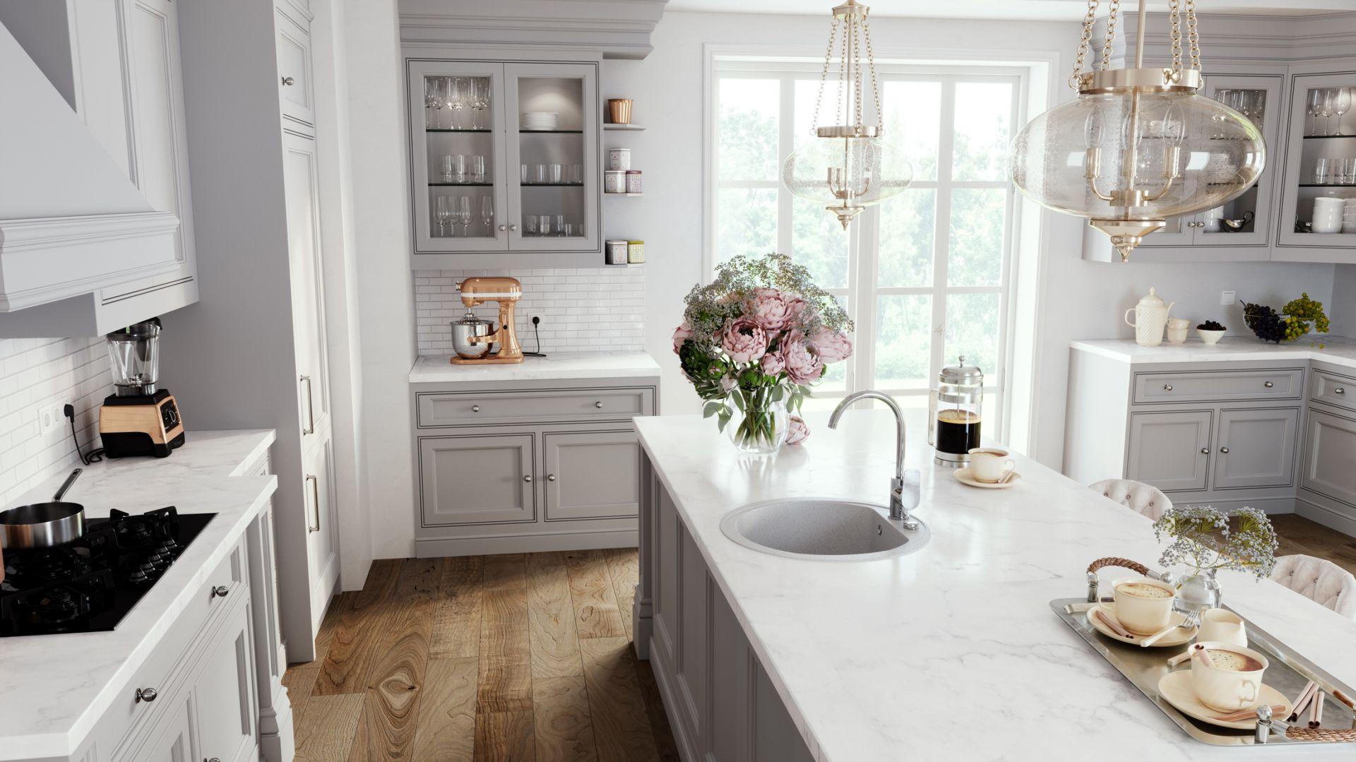 Francuska klasyka w kuchni:  granitowy zlewozmywak Bizzy. Fot. Ferro