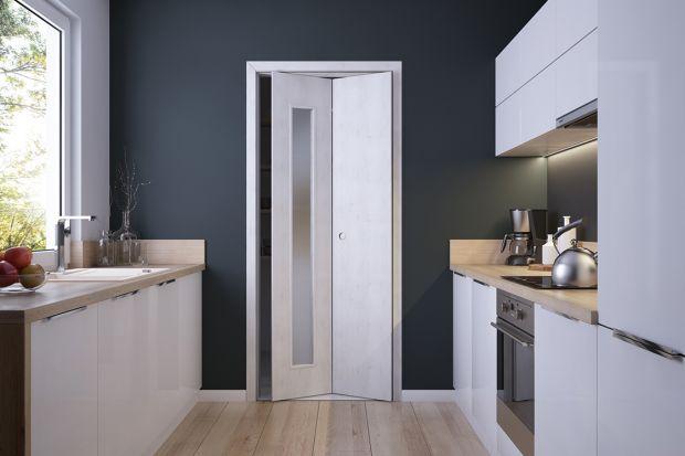Drzwi łamane - sposób na wydzielenie przestrzeni