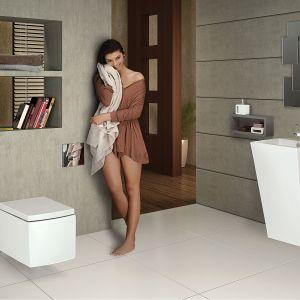 KUBIX - miska wisząca WC rimless z deską wolnoopadajacą, twardą Slim. Fot. Jaquar