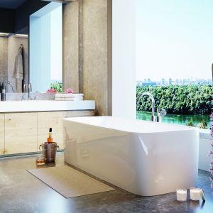 Wanna wolnostojąca Alaska wykonana z akrylu o pięknym kształcie, który sprawdzi się w każej łazience. Wymiary: 1700x750x560 mm. Fot. Jaquar