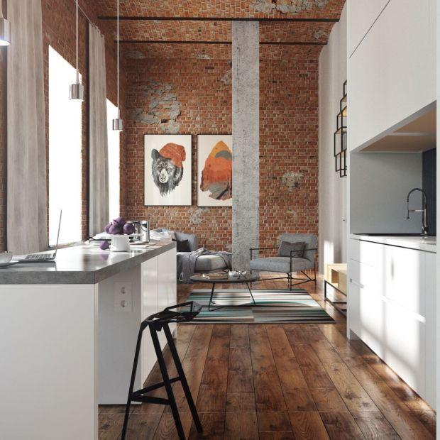 Cegła, beton i drewno - tak stworzysz mieszkanie z charakterem