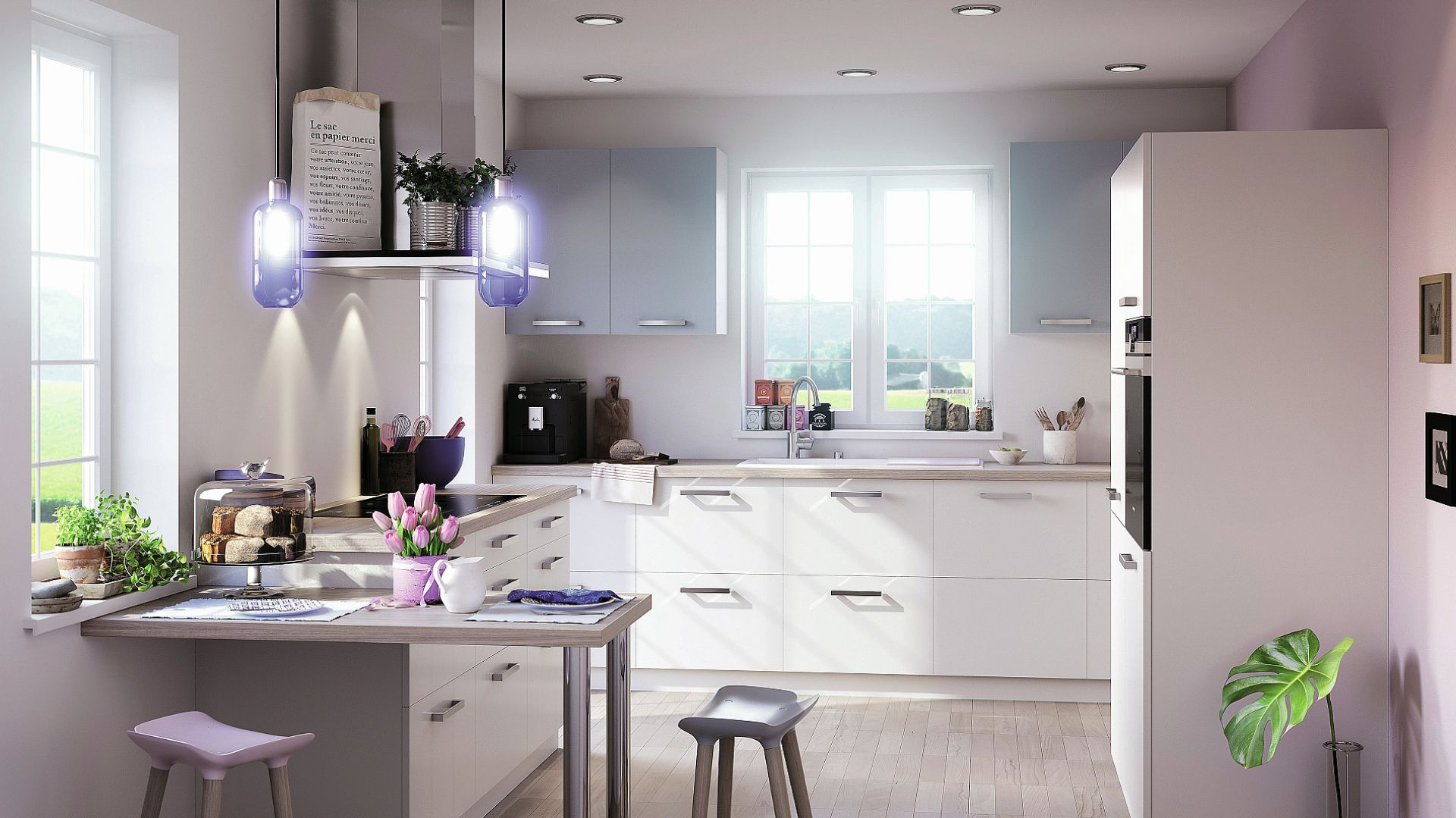 PURE EMOTION – zabudowa kuchenna w białym kolorze. Fot. Brigitte Kuechen