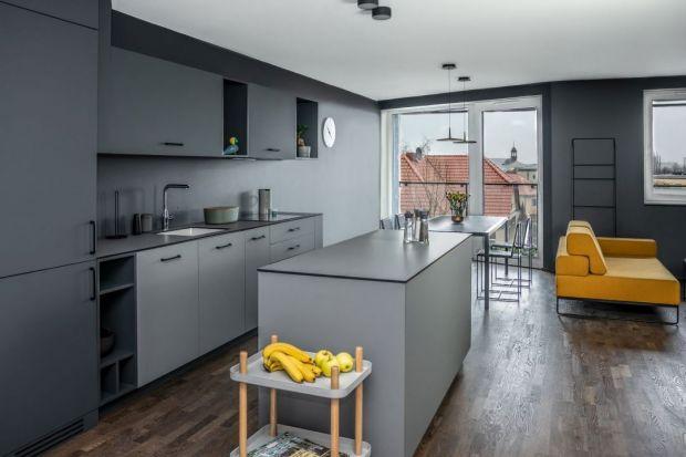 Nowoczesne mieszkanie w szarościach - zobacz ciekawy projekt