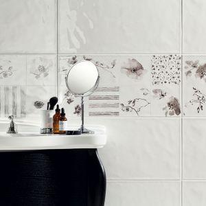 Białe płytki ceramiczne z kolekcji Amalia dostępne w ofercie marki Tubądzin. Fot. Tubądzin