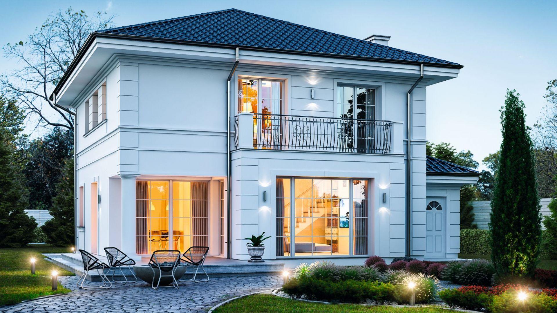 To dom dla wszystkich, którym się marzy mini-rezydencja. Dom Willa diamentowa. Projekt: arch. Michał Gąsiorowski. Fot. MG Projekt