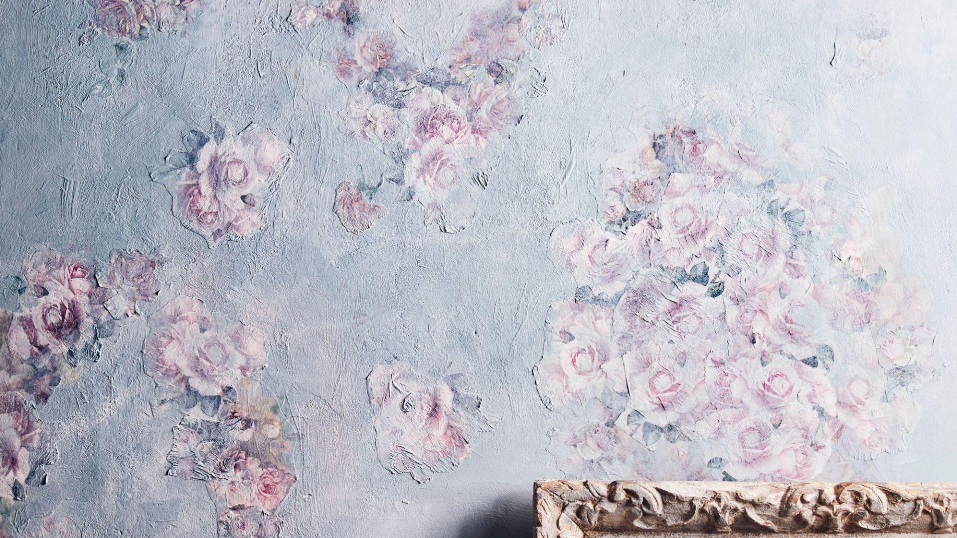 Dekoracja ścian metodą decoupage. Fot. Annie Sloan