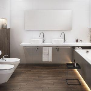 Umywalki meblowe Crea (śred. 38 cm) o niezwykle cienkich ściankach, z masy ceramicznej Rocklite. Fot. Cersanit