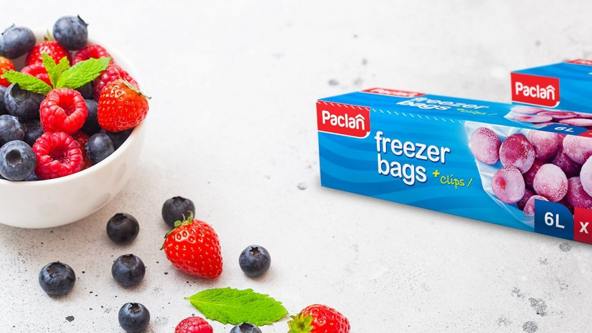 Woreczki na mrożonki Freezer bags. Fot. Paclan