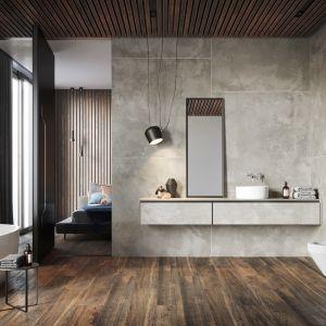 Płytki z kolekcji Quenos odwzorowują beton o delikatnym, stonowanym designie. Fot. Opoczno