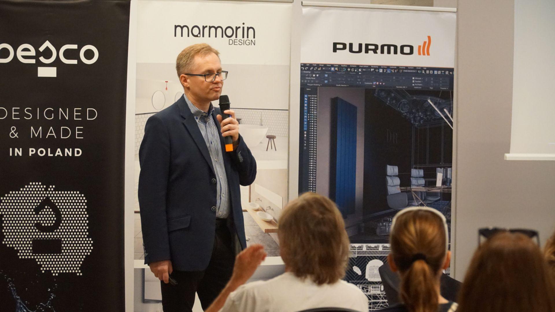 Robert Skomorowski, przedstawiciel marki Purmo - partnera głównego wydarzenia