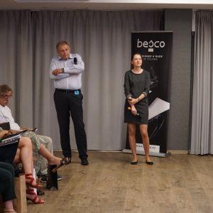 Wojciech Tomasik i Nalatalia Kuraś, przeedstawiciele marki Villeroy&Boch, partnera głównego wydarzenia