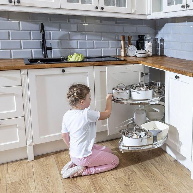 Przechowywanie w kuchni - zobacz rozwiązanie do narożnika
