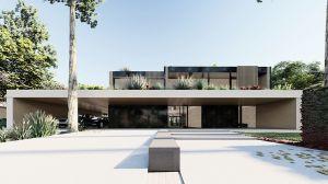 Głównym założeniem projektowym było stworzenie architektury prostej, która mogłaby być tłem dla projektowanej zieleni. Forma budynku zawiera się w podstawowych bryłach geometrycznych. Projekt: modula architekci