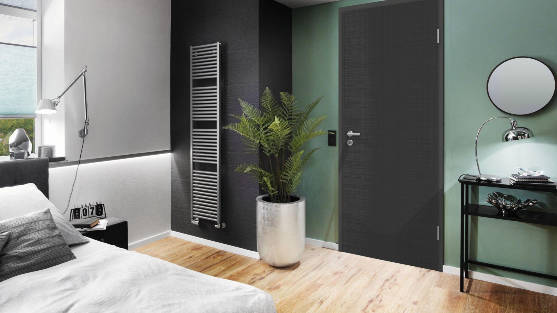 Nowa kolekcja drzwi wewnętrznych Concepto DesignLine z dekorem o strukturze lnu. Fot. Hörmann