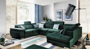 W tym sezonie w modnie urządzonym salonie króluje trend powrotu do natury, a wśród kolorów prym wiodą głębokie odcienie zieleni i niebieskiego.