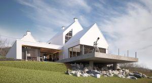 """Dom Rozcięty zaprojektowany przez architekta Bartłomieja Drabika to przykład interesującej nowoczesnej architektury, nawiązującej do tradycyjnego, lokalnego kontekstu. Budynek zdobył III nagrodę w konkursie """"Kwadratowy świat Galeco""""."""