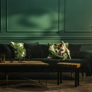 Modny odcień butelkowej zieleni Secret Garden z kolekcji farb Beckers Designer Collection podkreśli elegancki charakter wnętrza. Fot. Beckers