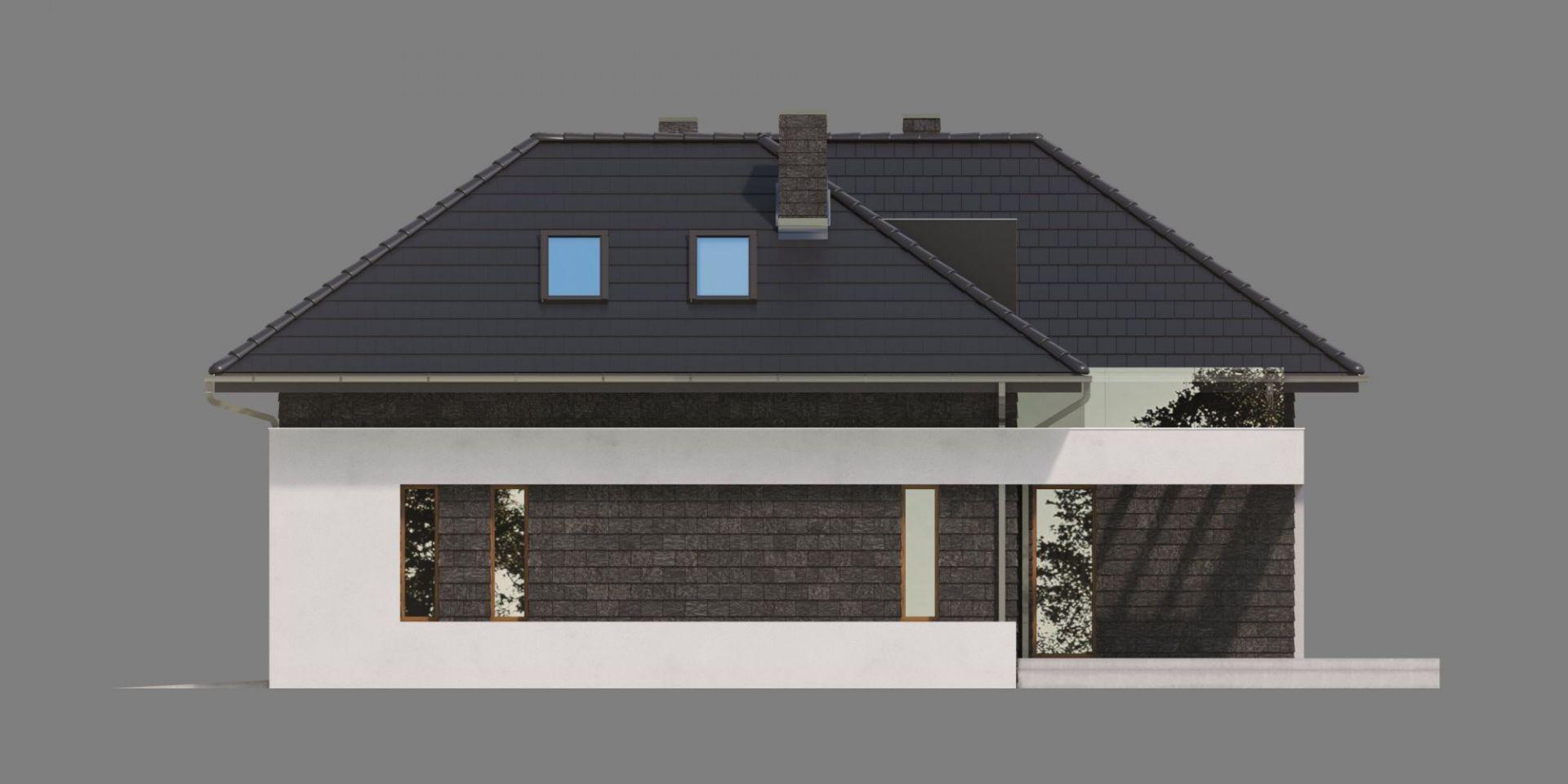Elewacja boczna. Dom HomeKoncept 13. Projekt i zdjęcia: HomeKoncept