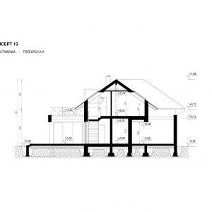 Przekrój domu. Dom HomeKoncept 13. Projekt i zdjęcia: HomeKoncept