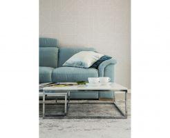 """Turkus oraz kolor niebieski w wersji """"baby blue"""" to idealne dopełnienie bieli. Projekt i zdjęcia: KODO"""