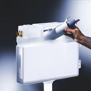 Nowoczesna i wygodna łazienka. Jak wybrać spłuczkę podtynkową. Fot. Tece