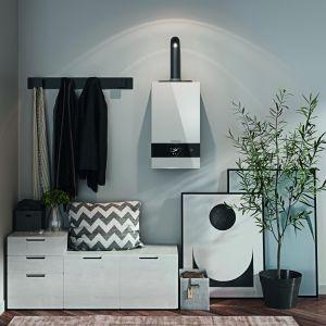 Kompaktowy kocioł kondensacyjny Logamax Plus GB122K może być stosowany w małych mieszkaniach, sporych segmentach i domach. Fot. Buderus