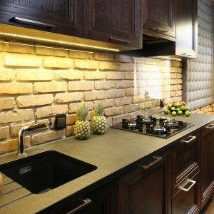 Ściana nad blatem w kuchni - piękne i praktyczne rozwiązania. Projekt: Iza Mildner. Fot. Bartosz Jarosz