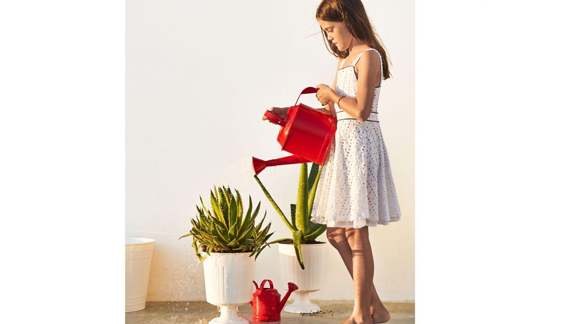 Czerwona konewka Socker o pojemności 5l. Fot. IKEA