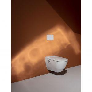 """Toaleta myjąca Navia to przykład rozwiązania typu """"dwa w jednym"""", które znakomicie sprawdzi się w niewielkich łazienkach. Fot. Laufen"""