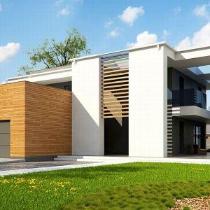 Dom z płaskim dachem. Projekt Zx75. Fot. Z500