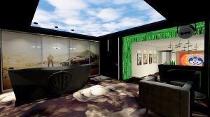 W projekcie biura Warner Bros ważną rolę pełni posadzka i sposób jej wykończenia. Projekt: Piotr Gierałtowski, Renata Parafiniuk, Mariusz Krukowski, Robert Leśnik (Gierałtowski & Partnerzy). Fot. mat. prasowe Carpet Studio