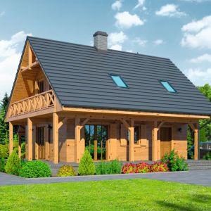 Mały dom powinien być ekonomiczny. Odpowiedni projekt pomoże obniżyć koszty budowy i późniejszego utrzymania. Projekt: Świdnica mała DWS. Fot. Dom-Projekt