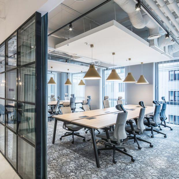 Nowoczesne biuro coworkingowe - eleganckie i inspirujące wnętrza