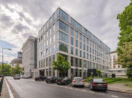 Biuro coworkingowe Solutions Rent przy Placu Małachowskiego  w Warszawie. Projekt wnętrz: The Design Group. Fot. mat. prasowe Rockfon