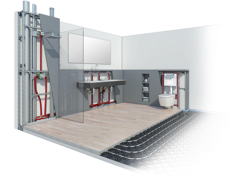Łazienka: projekt instalacji. Fot. Tece