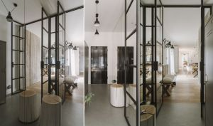 Architekci cenią naturalne materiały, otwartą przestrzeń i nie boją się przeszkleń. Dzięki temu mieszkanie jest pełne światła i harmonii. Projekt i zdjęcia: STUDIO.O. organic design