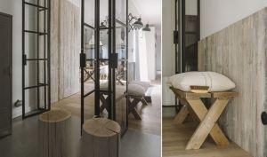Choć podstawę aranżacji stanowią surowe materiały: drewno, metal i szkło, panuje tutaj klimat pełen ciepła, sprzyjający odpoczynkowi i wyciszeniu. Projekt i zdjęcia: STUDIO.O. organic design