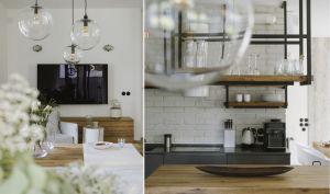 Kuchnia swobodnie łączy się z jadalnią i salonem. Projekt i zdjęcia: STUDIO.O. organic design