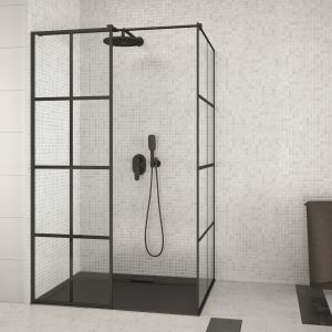 Kabina prysznicowa typu walk-in Excea dostępna w ofercie firmy Besco. Fot. Besco