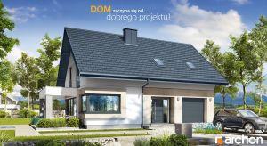 """""""Dom w zdrojówkach 8"""" to ekonomiczny w budowie i użytkowaniu dom jednorodzinny, który oferuje mieszkańcom komfortowe, pięknie doświetlone światłem dziennym wnętrze. Projekt sprawdzi się w realizacji na działkach z wjazdem od południa."""
