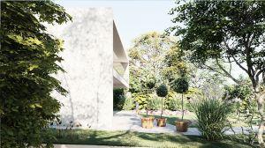 Projekt domu pod Warszawą skupia się na malowniczym otoczeniu, które stanowi największą wartość działki. Projekt i wizualizacje: modula architekci