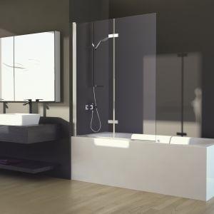 Parawan nawannowy Lumix pomoże połączyć w jednym elemencie wyposażenia łazienki zalety wanny i kabiny. Fot. Besco