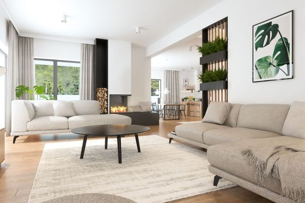 Aranżacja salonu: sofa w centrum idealnej strefy wypoczynku