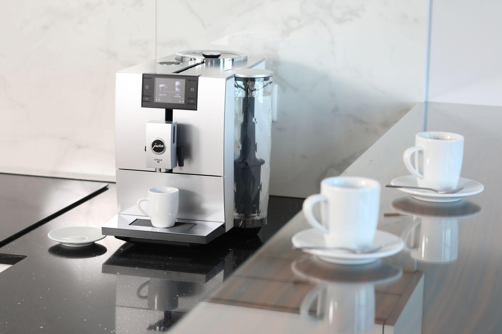 Ekspres do kawy ENA 8 firmy Jura. Projekt wnętrza: Katarzyna Mikulska-Sękalska. Fot. Bartosz Jarosz