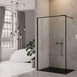 Aranżacja łazienki: New Modus Black walkin. Fot. New Trendy