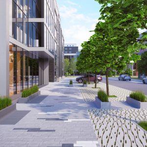 Tigela to l-kształtne prefabrykaty, z których możemy zbudować donice dla zaprojektowanej przez nas zieleni. Fot. Polbruk